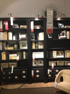 HEMNES Bookcase (the middle one) (19 1/4 x 77 1/2) $120 The tag was impossible for me to read in my picture so those measurements are most likely off.