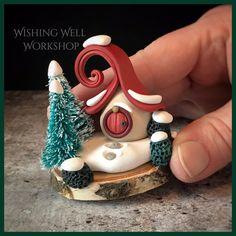 Polymer Clay Fairy, Polymer Clay Ornaments, Polymer Clay Animals, Cute Polymer Clay, Cute Clay, Polymer Clay Miniatures, Fimo Clay, Polymer Clay Projects, Polymer Clay Charms