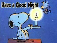 Good night snoopy goodnight friends!! Xo