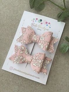 Baby Girl Hairclip Barrette Liberty London Fabric Pack Of 2 Pink Fringe Pigtail  | eBay Butterfly Flowers, Floral Flowers, Flowers In Hair, Bow Hair Clips, Hair Bows, Hair Bobbles, Liberty Fabric, Newborn Headbands, Barrette
