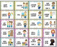 free Classroom Job Chart Labels   water patrol (2), caboose, message carrier, table monitor 1-4, weather ...