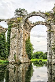 remains of a roman aqueduct, central france   travel destinations in europe + ruins #wanderlust