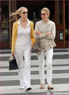 Kelly Rutherford and her mother.  Chic begats chic.