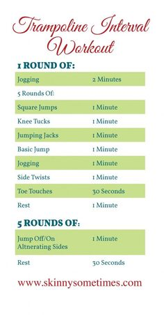 trampoline-workout-just got one of these to add to what I do to stay fit. LOVE IT =) Love my body after having 3 boys as I've come a long way now to maintain it!!
