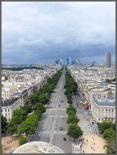 View from Arc de Triomphe, Paris