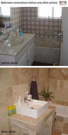 S Bathroom Renovation Before And After Bathroom - Bathroom renovation sequence