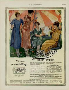 June 1922 Slip-Over Dresses ~ L'Aiglon ad from The Ladies' Home Journal