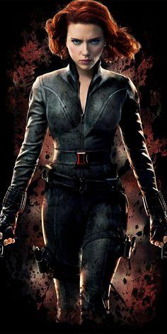 Black widow, Scarlett Johansson, Avengers, minimal, 1080x2160 wallpaper