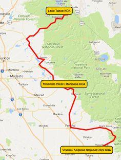 Coastal California Dream Vacation From KOA Where To Go When - California koa map