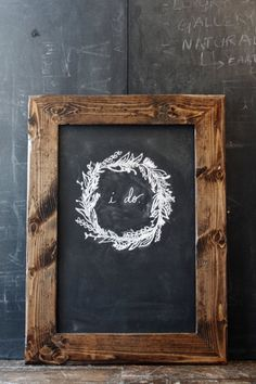 Rustic Dark Brown Distressed Chalkboard by hostandtoaststudio, $76.00