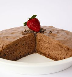 Low Fat Chocolate Mousse Pie from Symply Too Good To Be True
