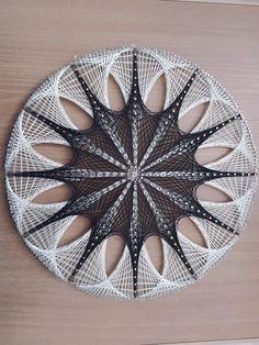 Wood Steel, Wood And Metal, Arte Linear, String Crafts, String Art Patterns, Thread Art, Macrame Knots, Pattern Fashion, Saatchi Art