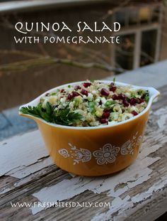 A tabouli-like salad for the cooler months (and gluten free as a bonus)  #foodstorage