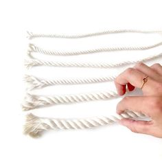 Macrame Cord Types Explained Save time, confusion and money by learning about the types of macrame cord! Macrame Earrings, Macrame Cord, Macrame Knots, Macrame Thread, Macrame Jewelry, Macrame Supplies, Macrame Projects, Macrame Curtain, Macrame Design