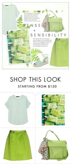 """it's the world we've been dreaming of"" by fernweeh on Polyvore featuring moda, 360 Sweater, Moschino Cheap & Chic, Hadaki, Tiffany & Co., New Look, Summer, Spring, GREEN i Moschino"