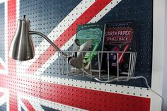our fifth house: DIY - Union Jack Pegboard Headboard