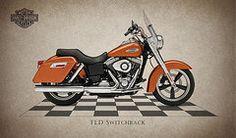 Harley Davidson Framed Prints - Harley-Davidson Switchback Framed Print by Mark Rogan