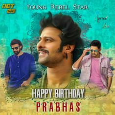 """Read more about Prabhas' look in 'Saaho' revealed on his birthday on Business Standard. """"Baahubali"""" star Prabhas, who turned 38 on Monday, gave his fans a gift -- the first look poster of multi-lingual action film """"Saaho"""". 38th Birthday, Happy Birthday, Prabhas Actor, Prabhas Pics, Most Handsome Actors, Lakshmi Images, Star Darlings, Mr Perfect, Mahesh Babu"""