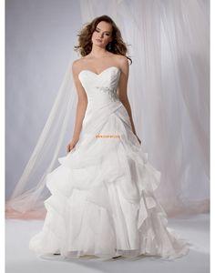 Jardin / Extérieur Organza Zip Robes de mariée Designer