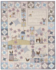 Lynnette Andersons Stitched by Me Block of the Month Quilt