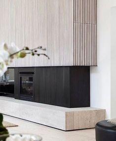 31 Stunning Modern Fireplace Design Ideas 31 Stunning Mode Home Deco contemporary fireplace Design Fireplace Ideas Mode Modern modernfireplaceideas Stunning Fireplace Tv Wall, Fireplace Surrounds, Fireplace Ideas, Contemporary Fireplace Designs, Modern Fireplaces, Contemporary Kitchens, Contemporary Bedroom, Timber Battens, Timber Walls