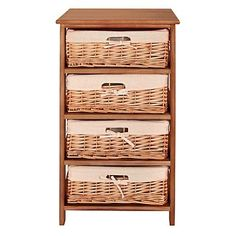 Natural 'Wood and weave' four drawer chest - Was £140 - Storage - Furniture - Home & furniture -