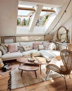 Bohemian Latest And Stylish Home decor Design And Life Style Ideas - Decor Salon Maison - Cozy Living Rooms, Home Living Room, Living Room Decor, Living Spaces, Bedroom Decor, Deco Studio, Home Improvement Loans, Lounge Decor, Stylish Home Decor