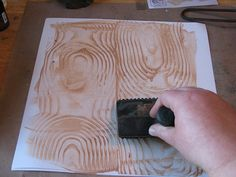 How to paint faux wood grain with a $5-$10 tool.