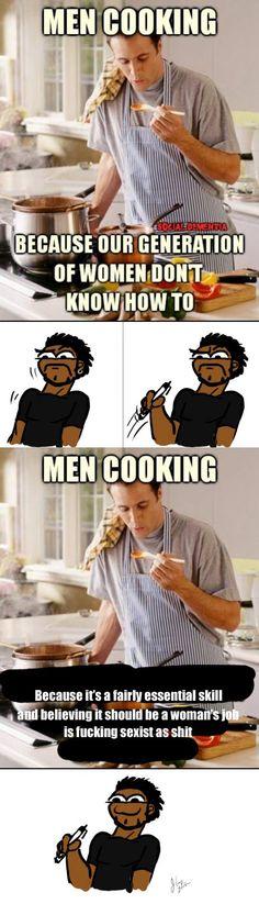 Can we please stop rewarding men for performing basic household tasks?