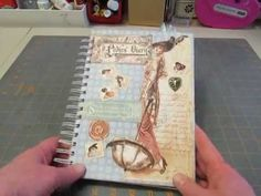 """My journal, made with """"A Ladies' Diary"""" G45 papers"""