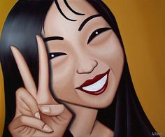 5 Most Beautiful Girlfriends, Ever. Artwork by artist Jeff Lyons. the girlfriends series. Artwork portrait oil paintings of women. Fun, funky, feminine art pop portrait art oil paintings of beautiful women. Oil Painting Lessons, Painting Classes, Painting Of Girl, Portrait Art, Portrait Images, Portraits, Portrait Ideas, Female Portrait, Oil Painters