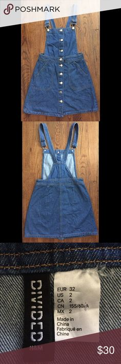 H&M denim button up overall dress H&M denim button up overall dress H&M Other