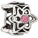 Dahlia - Pink Swarovski Bead - $50.00