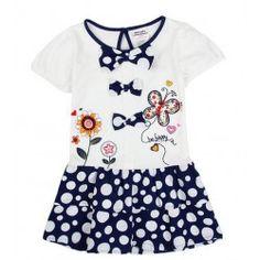 Girls' Tutu Dress w/ Polka Dots & Butterflies Embroidery Little Girl Dresses, Girls Dresses, Summer Dresses 2017, 2017 Summer, Butterfly Party, Dress Drawing, Nova Dresses, Sweet Style, Summer Baby