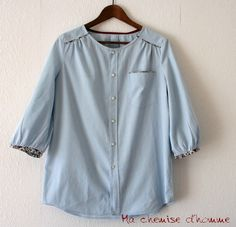 Upcycled man's shirt - nikkishell.typepad.com
