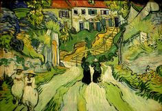 Gogh, Vincent van (Dutch, 1853-1890) - Stairway at Auvers - 1890