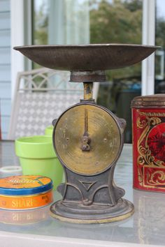 Antique cast iron kitchen scale circa by PipesandPatina, $85.00