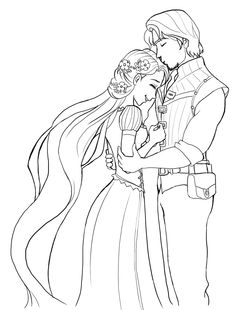 rapunzel wedding coloring papges rapunzel is very happy coloring page