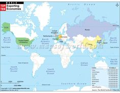 Buy world coal deposits map from online map store world map buy world map of top ten exporting countries online gumiabroncs Image collections