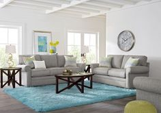 Cindy Crawford Home Bellingham Gray 7 Pc Living Room