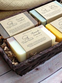 Soap Gift Basket 4 bar Soap Set All Natural by TreefortNaturals, $24.00