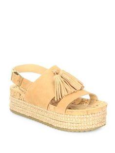 SCHUTZ Monica Suede Platform Espadrille Sandals. #schutz #shoes #sandals
