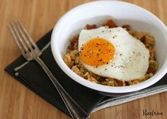Bacon and egg fried rice. Make this tasty breakfast fried rice.