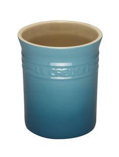 Le Creuset Stoneware Small Utensil Jar, 1.1 L - Teal Le Creuset http://www.amazon.co.uk/dp/B001TDKMA0/ref=cm_sw_r_pi_dp_5jYNub0C93C2J