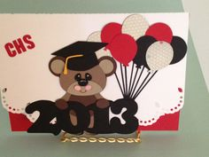 I made this card for a female high school graduation using my Silhouette Cameo . Absolutely love the Cameo!