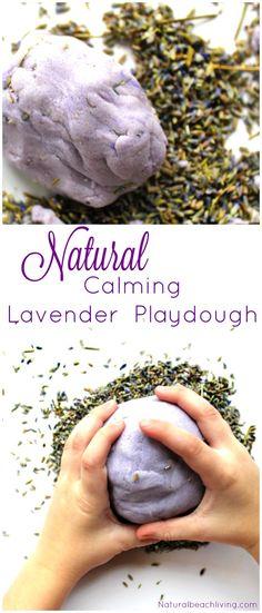 The Most Amazing Natural Lavender Kids Play Dough Recipe, Calming playdough, no-cook playdough recipe, How to make the best playdough, Homemade dough