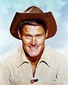 CHUCK CONNORS THE RIFLEMAN SMILING COLOR 11X14 PHOTO