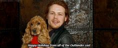 He likes dogs. | 20 Verra Verra Braw Reasons Why Sam Heughan Is The Perfect Jamie Fraser