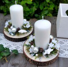 "Dekorace "" Bílé vánoce"" / Zboží prodejce Silene | Fler.cz Xmas Crafts, Autumn Home, Loving U, Pillar Candles, Christmas Decorations, Creative, Inspiration, Home Decor, Christmas Decor"
