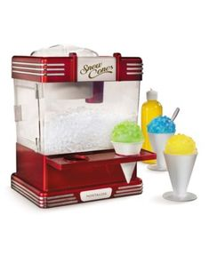 The Countertop Snow Cone Machine from Hammacher Schlemmer. Shop more products from Hammacher Schlemmer on Wanelo. Snow Cone Syrup, Snow Cones, Hammacher Schlemmer, Specialty Appliances, Small Appliances, Kitchen Appliances, Cool Kitchen Gadgets, Cool Kitchens, Wine Gadgets
